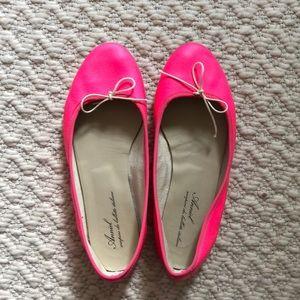 Anniel Italian Ballet Flats Pink Sz 8 like Repetto